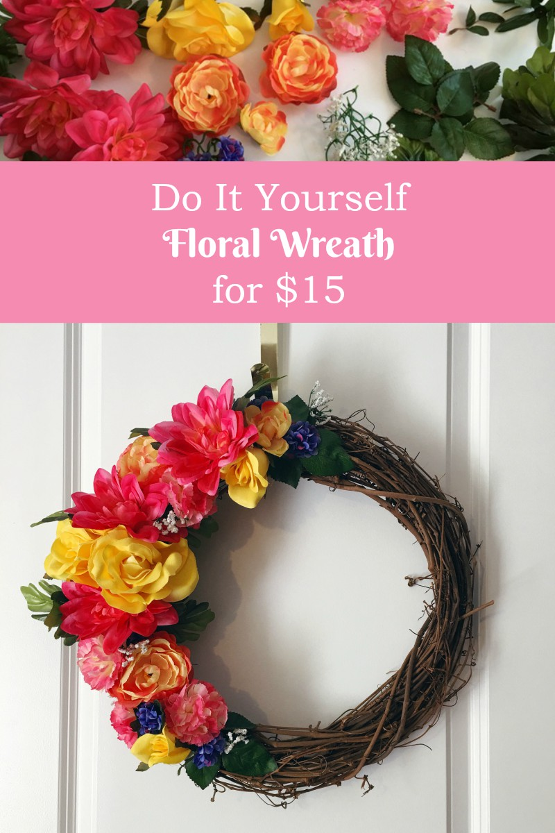 DIY Floral Wreath tutorial