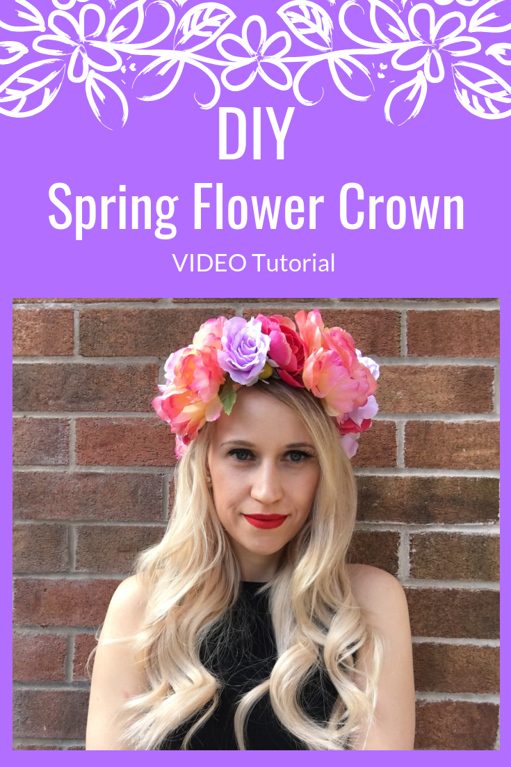 DIY Spring Flower Crown Video Tutorial