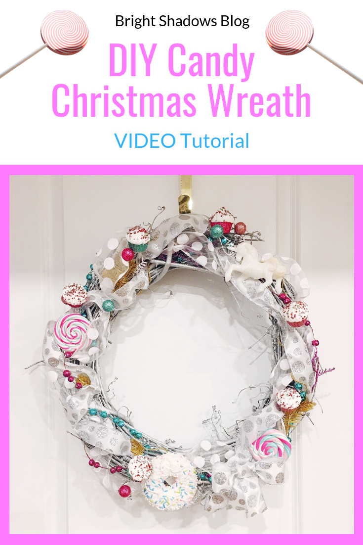 DIY Candy Christmas Wreath Video Tutorial